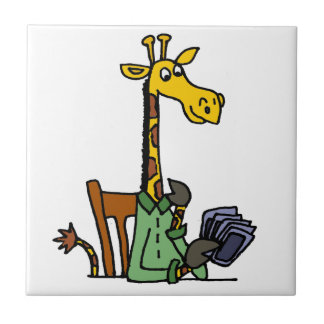 Funny Giraffe Playing Cards Tile