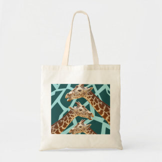 Funny Giraffe Print Teal Blue Wild Animal Patterns