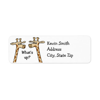 Funny Giraffe Return Address Labels