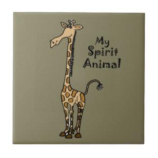 Funny Giraffe Spirit Guide Tile