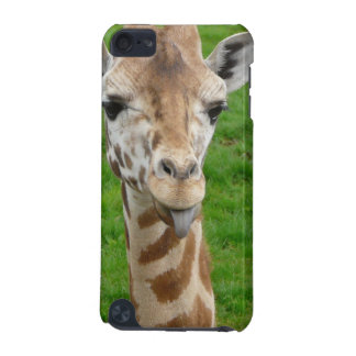 Funny Giraffe Sticking Out Tongue iPod Touch (5th Generation) Covers