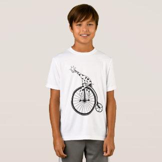 Funny giraffee riding a penny-farthing T-Shirt