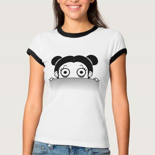 Funny Girl Head Cartoon Women's T-Shirt