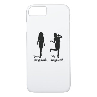 Funny girlfriend gifts My girlfriends Pizza iPhone 8/7 Case