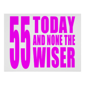 Funny Girls Birthdays  55 Today and None the Wiser Poster
