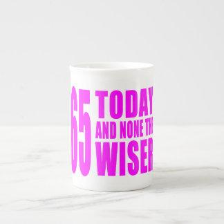 Funny Girls Birthdays 65 Today and None the Wiser Bone China Mugs