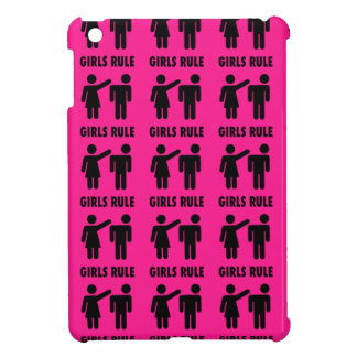 Funny Girls Rule Hot Pink Feminist Gifts iPad Mini Covers