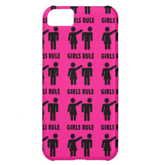 Funny Girls Rule Hot Pink Feminist Gifts iPhone 5C Case