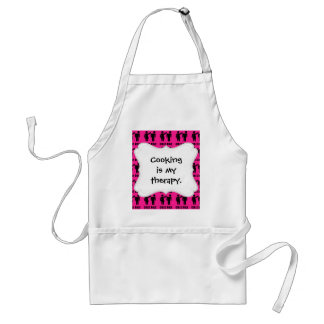 Funny Girls Rule Hot Pink Feminist Gifts Standard Apron