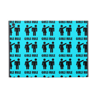 Funny Girls Rule Teal Turquoise Blue Girl Power Cases For iPad Mini