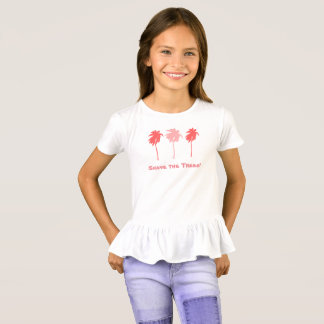 Funny Girls Shave the Trees Palm Ruffle T - Shirt