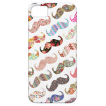 Funny Girly  Colourful Patterns Moustaches iPhone 5 Covers