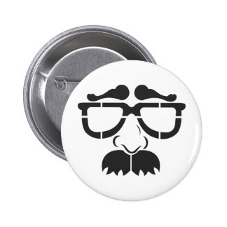 Funny Glasses and Mustache 2 Inch Round Button