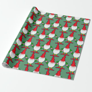 Funny gnomes wrapping paper