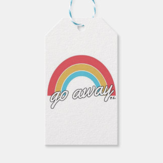 Funny Go Away Rainbow Slogan Pack Of Gift Tags