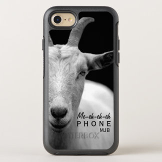 "Funny Goat Animal Sound ""My Phone"" monogram OtterBox Symmetry iPhone 8/7 Case"