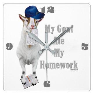 Funny Goat Ate My Homework Wallclock
