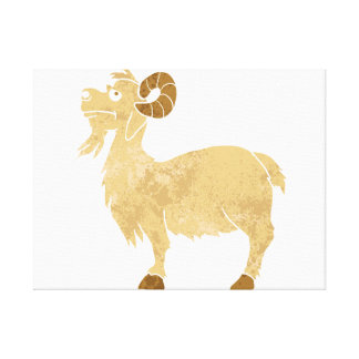 funny Goat cartoon. Canvas Print