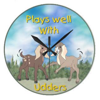 Funny Goat Cartoon Wall Clock
