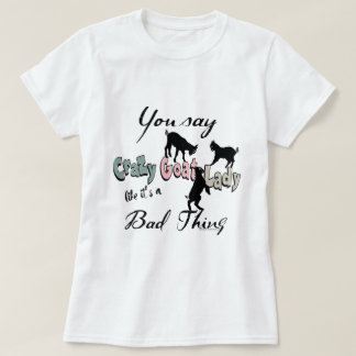 FUNNY GOAT   Crazy Goat Lady Southwest Colors T-Shirt