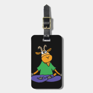 Funny Goat Doing Lotus Position Yoga Luggage Tag