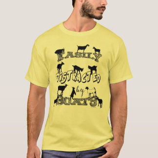 FUNNY GOAT   Easily Distracted by Goats T-Shirt