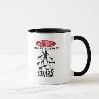 FUNNY GOAT | Farm Patrolled by Crazy Goat Lady Mug