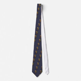 Funny Goat Hiking Art Tie
