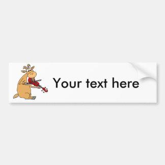 Funny Goat Playing Fiddle Cartoon Bumper Sticker
