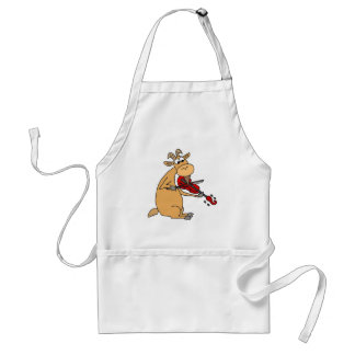 Funny Goat Playing Fiddle Cartoon Standard Apron
