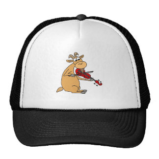 Funny Goat Playing Fiddle Cartoon Trucker Hat