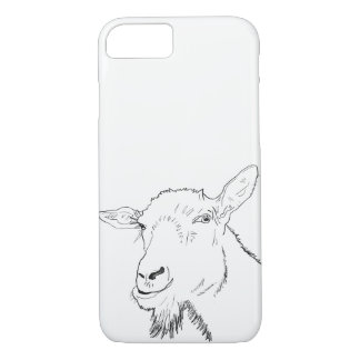 Funny Goat Stylish Line Drawing Animal Art Design iPhone 8/7 Case