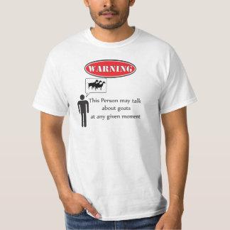 Funny Goat Warning Tshirt