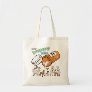 FUNNY GOATS | My Happy Pills GetYerGoat Tote Bag