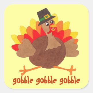 Funny Gobble Turkey - Thanksgiving Sticker