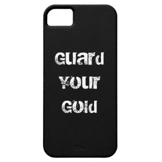 Funny Gold Saying iPhone 5 Covers
