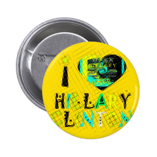 Funny Golden lovey Amazing Hope Hillary for USA Co 2 Inch Round Button