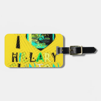 Funny Golden lovey Amazing Hope Hillary for USA Co Bag Tag