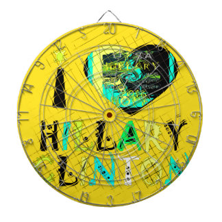 Funny Golden lovey Amazing Hope Hillary for USA Co Dart Board