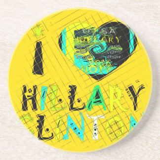 Funny Golden lovey Amazing Hope Hillary for USA Co Drink Coaster