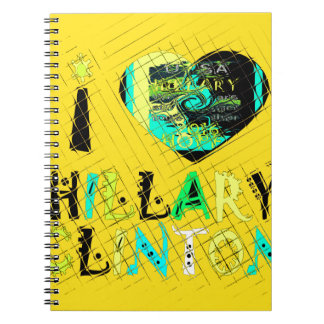 Funny Golden lovey Amazing Hope Hillary for USA Co Notebooks