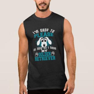Funny Golden Retriever Dog Owners Sleeveless Shirt
