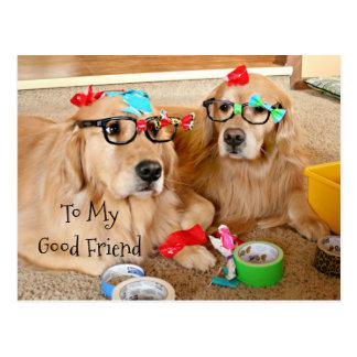 Funny Golden Retriever Friendship Card