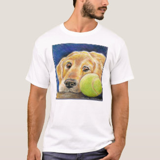 Funny Golden Retriever with Tennis Ball T-Shirt