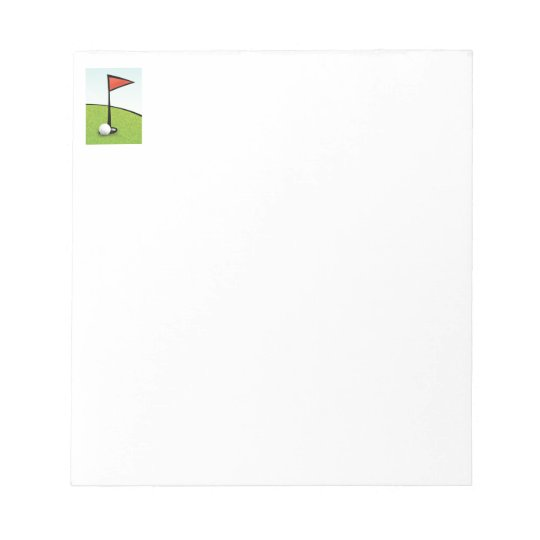 FUNNY GOLF BALL HOLE IN ONE, GOLFER GIFT NOTEPAD