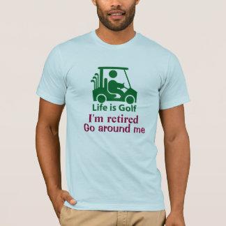 Funny Golf Cart Golfer Green Light Blue T-Shirt