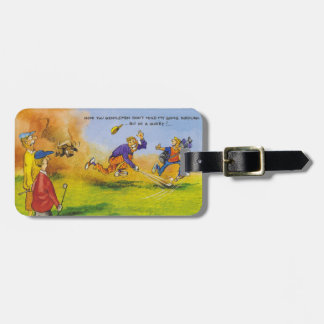 Funny golf chase luggage tag