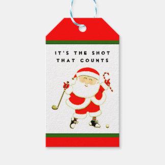 funny golf Christmas Gift Tags