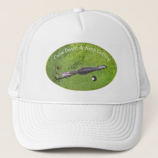 FUNNY GOLF COURSE HAT, KEEP CALM & KEEP GOLFING TRUCKER HAT