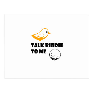 Funny Golf Gifts  Talk Birdie To Me Cool Postcard